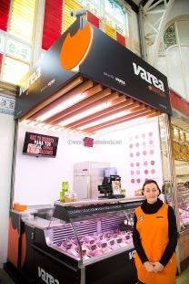 Hamburguesas sabores del Gambas del Mercado Central de Valencia