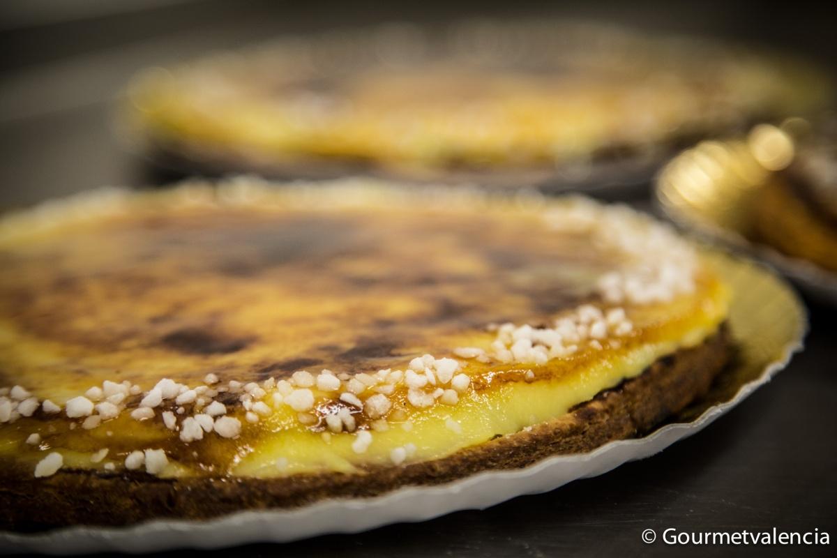 Tarta de manzana y crema tostada