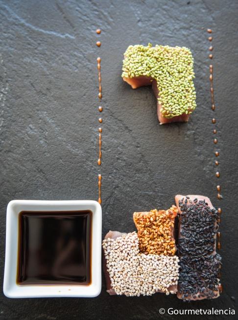 Tetris de atún del restaurante Delirant