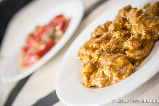 La Peseta. Lomo al curry