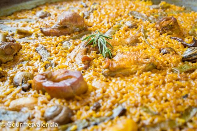 Paella valenciana de Mas Blayet