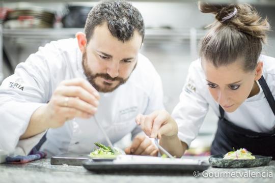 Alejandro Platero y Ana, del restaurante Macel·lum