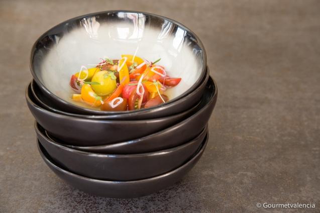 Ceviche de tomates en Fierro