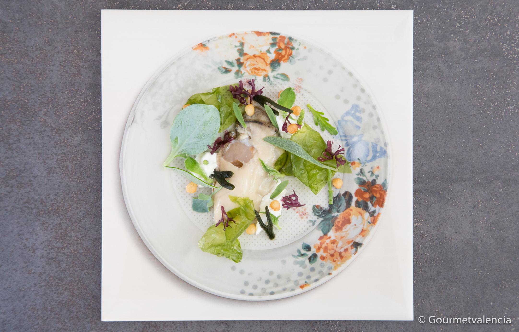 Ensalada de algas y ostra de Fierro