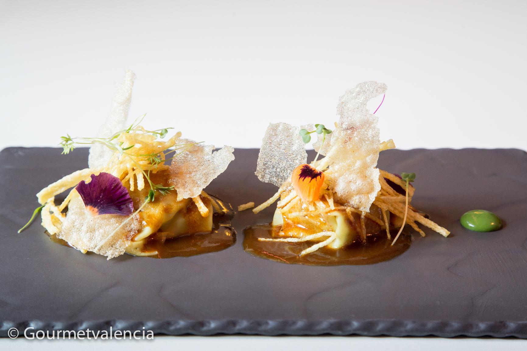 Platos del restaurante Ginebre, en Valencia